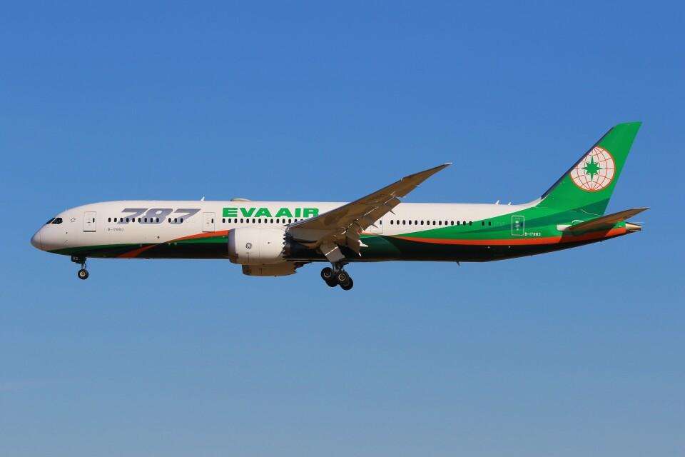 みるぽんたさんのエバー航空 Boeing 787-9 (B-17882) 航空フォト