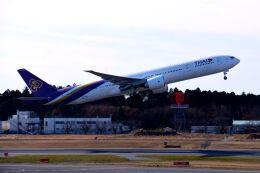 まいけるさんが、成田国際空港で撮影したタイ国際航空 777-3D7/ERの航空フォト(飛行機 写真・画像)
