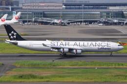 Flying A340さんが、羽田空港で撮影したルフトハンザドイツ航空 A340-313Xの航空フォト(飛行機 写真・画像)