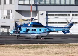 voyagerさんが、東京ヘリポートで撮影したエアバス・ヘリコプターズ・ジャパン AS332L1 Super Pumaの航空フォト(飛行機 写真・画像)
