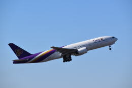 hachiさんが、成田国際空港で撮影したタイ国際航空 777-2D7/ERの航空フォト(飛行機 写真・画像)