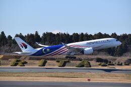 hachiさんが、成田国際空港で撮影したマレーシア航空 A350-941の航空フォト(飛行機 写真・画像)