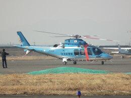 ヒコーキグモさんが、岡南飛行場で撮影した佐賀県警察 AW109SPの航空フォト(飛行機 写真・画像)