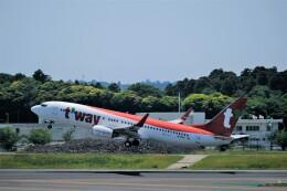 そば小猿さんが、成田国際空港で撮影したティーウェイ航空 737-8ASの航空フォト(飛行機 写真・画像)