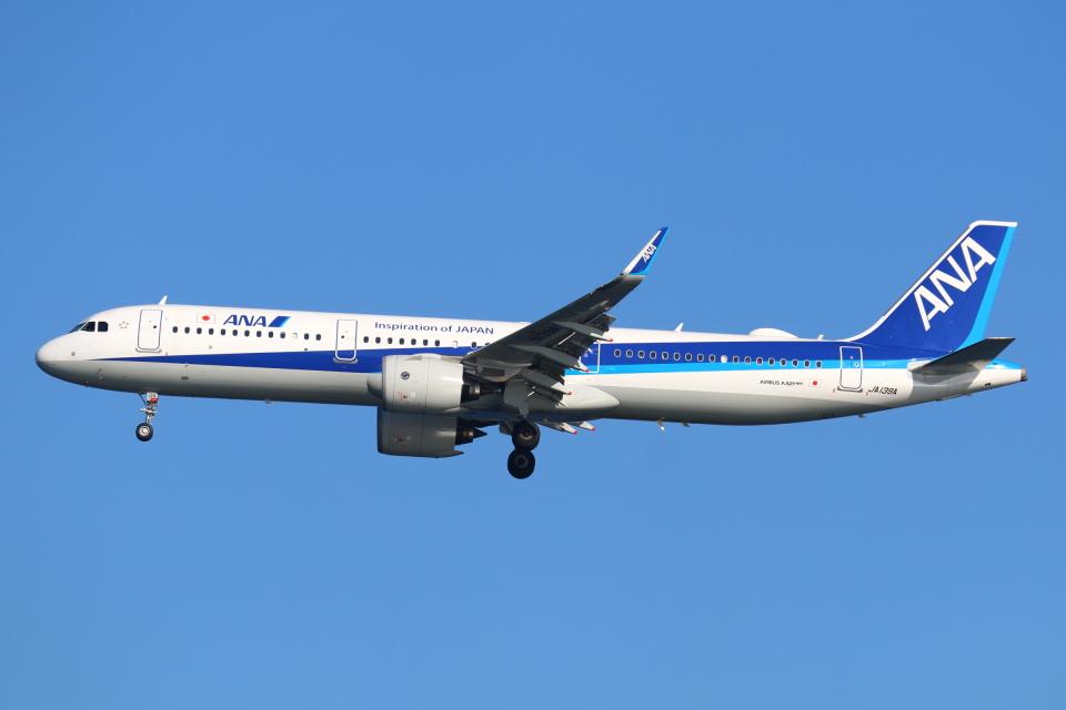 やつはしさんの全日空 Airbus A321neo (JA139A) 航空フォト