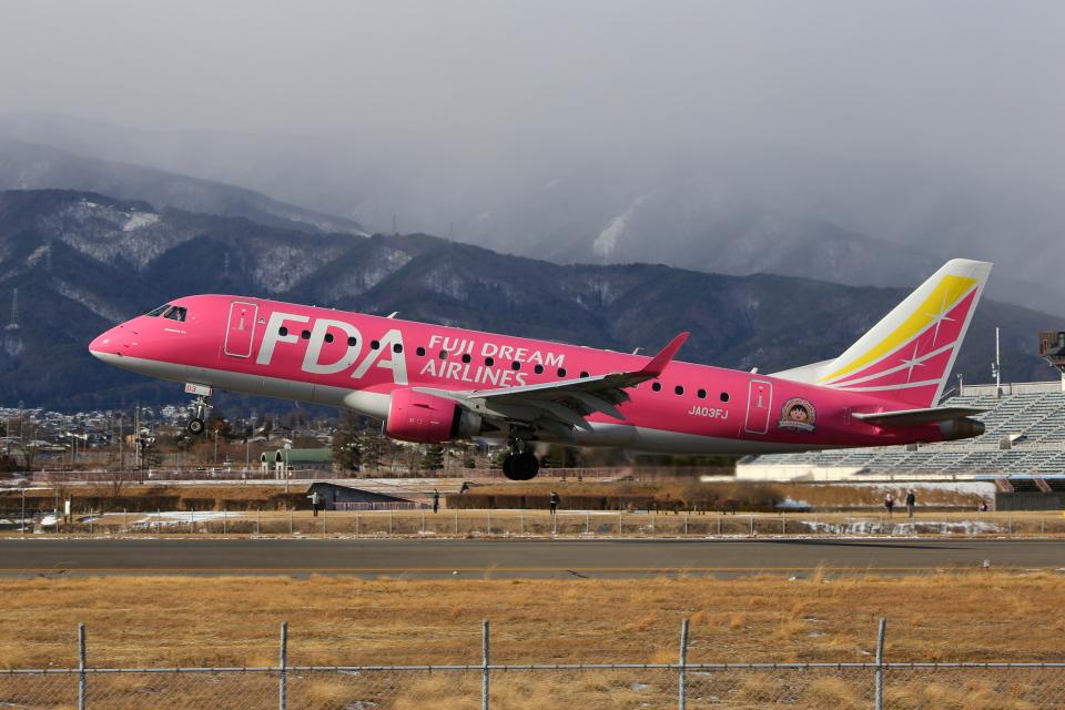 乙事さんのフジドリームエアラインズ Embraer 175 (JA03FJ) 航空フォト