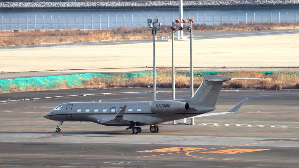 誘喜さんのウィルミントン・トラスト・カンパニー Gulfstream G650 (G-VI) (N700MK) 航空フォト