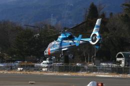 乙事さんが、松本空港で撮影した長野県警察 AS365N3 Dauphin 2の航空フォト(飛行機 写真・画像)