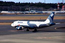 まいけるさんが、成田国際空港で撮影したオーロラ A319-111の航空フォト(飛行機 写真・画像)