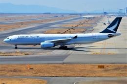 amagoさんが、関西国際空港で撮影したキャセイパシフィック航空 A330-342の航空フォト(飛行機 写真・画像)