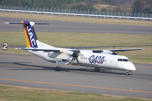 プルシアンブルーさんが、福島空港で撮影した日本エアコミューター DHC-8-402Q Dash 8の航空フォト(飛行機 写真・画像)