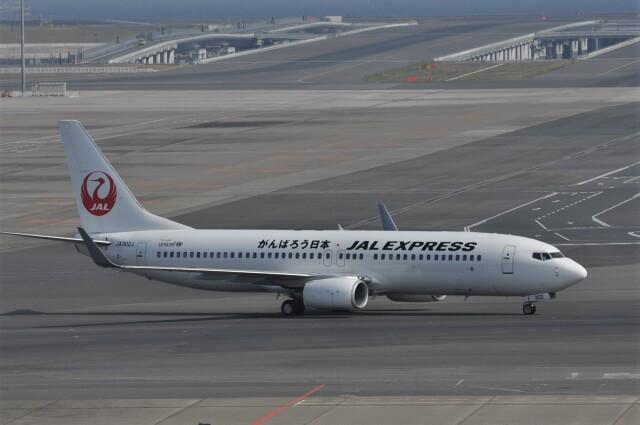 kumagorouさんが、羽田空港で撮影したJALエクスプレス 737-846の航空フォト(飛行機 写真・画像)
