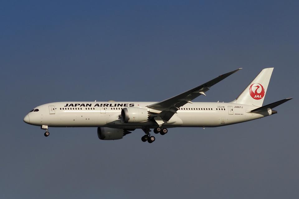 飛行機ゆうちゃんさんの日本航空 Boeing 787-9 (JA867J) 航空フォト