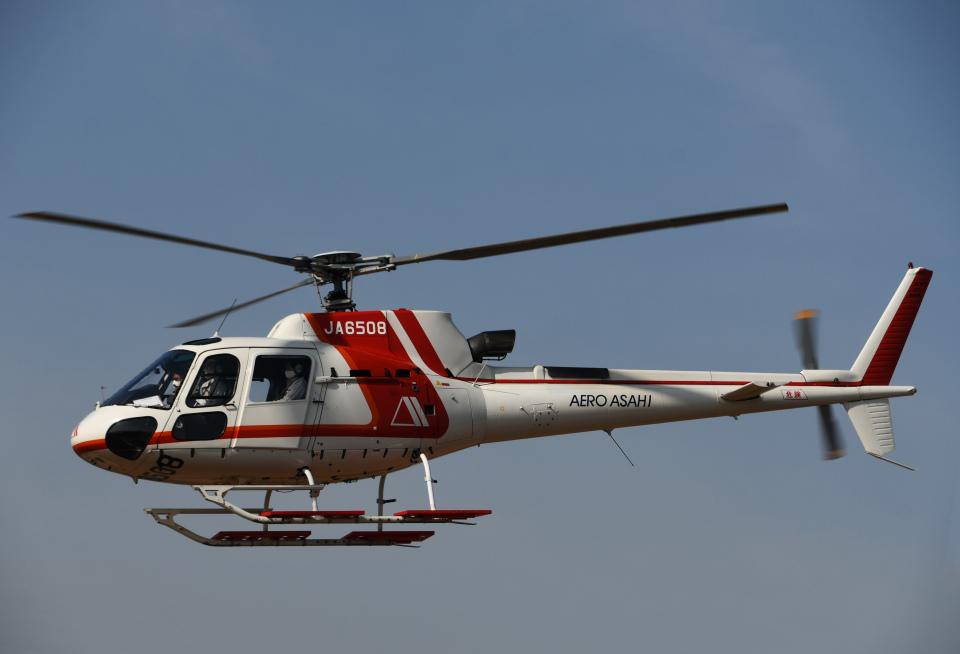チャーリーマイクさんの朝日航洋 Eurocopter AS350 Ecureuil/AStar (JA6508) 航空フォト