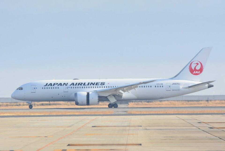 M.Tさんの日本航空 Boeing 787-8 Dreamliner (JA829J) 航空フォト