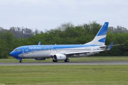 狛犬さんが、ミニストロ・ピスタリーニ国際空港で撮影したアルゼンチン航空 737-8BKの航空フォト(飛行機 写真・画像)