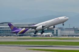h_wajyaさんが、福岡空港で撮影したタイ国際航空 A330-343Xの航空フォト(飛行機 写真・画像)