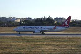 狛犬さんが、マルタ国際空港で撮影したターキッシュ・エアラインズ 737-8F2の航空フォト(飛行機 写真・画像)
