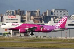 もぐ3さんが、福岡空港で撮影したピーチ A320-214の航空フォト(飛行機 写真・画像)
