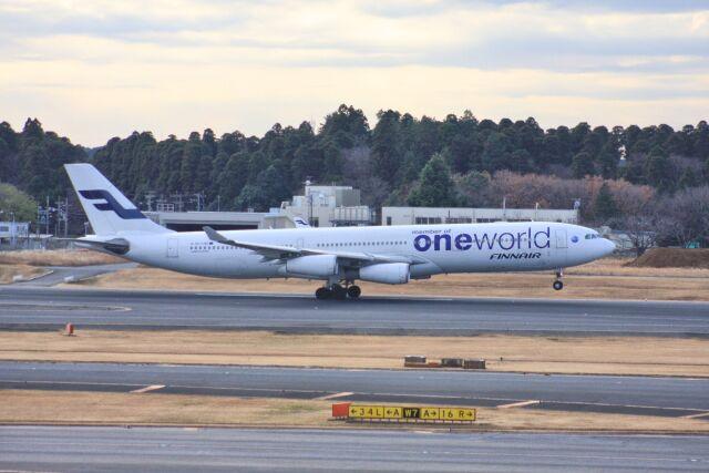 wunalaさんが、成田国際空港で撮影したフィンエアー A340-313Xの航空フォト(飛行機 写真・画像)