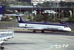 tassさんが、ロンドン・ガトウィック空港で撮影したトランスウェート・エアウェイズ MD-83 (DC-9-83)の航空フォト(飛行機 写真・画像)
