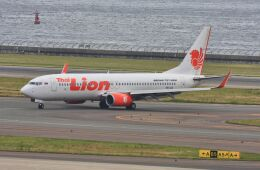 wunalaさんが、中部国際空港で撮影したタイ・ライオン・エア 737-8GPの航空フォト(飛行機 写真・画像)