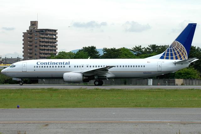 jun☆さんが、名古屋飛行場で撮影したコンチネンタル航空 737-824の航空フォト(飛行機 写真・画像)