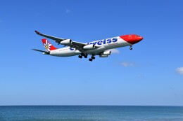 こじゆきさんが、プーケット国際空港で撮影したエーデルワイス航空 A340-313Xの航空フォト(飛行機 写真・画像)