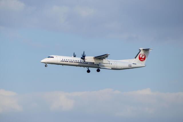 平凡なおっちゃんさんが、伊丹空港で撮影した日本エアコミューター DHC-8-402Q Dash 8の航空フォト(飛行機 写真・画像)