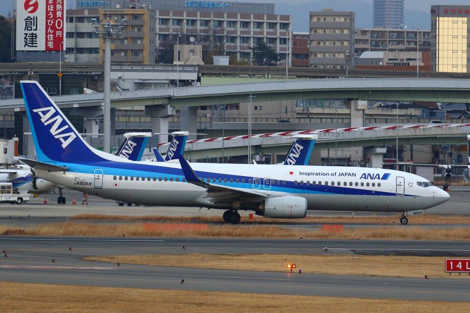khideさんの全日空 Boeing 737-800 (JA80AN) 航空フォト