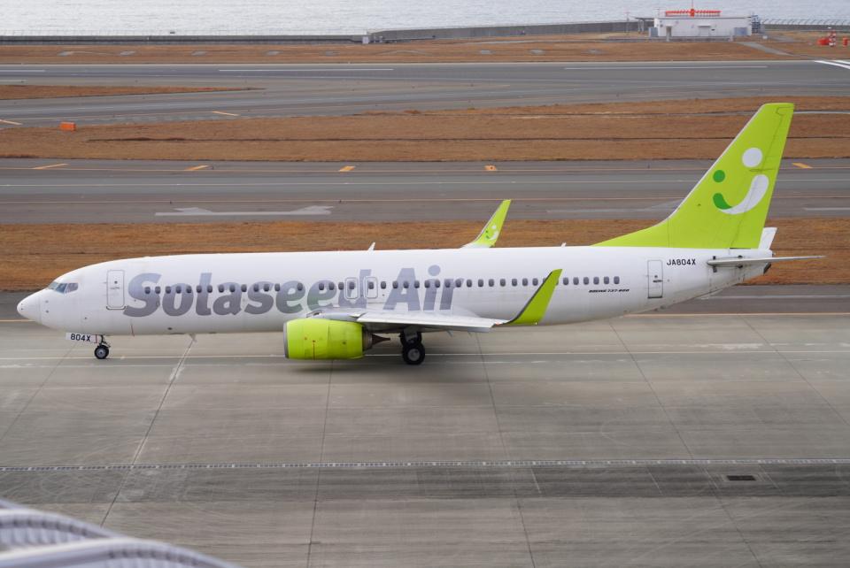SFJ_capさんのソラシド エア Boeing 737-800 (JA804X) 航空フォト