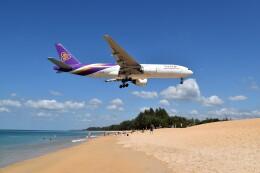 こじゆきさんが、プーケット国際空港で撮影したタイ国際航空 777-2D7/ERの航空フォト(飛行機 写真・画像)