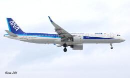RINA-281さんが、小松空港で撮影した全日空 A321-272Nの航空フォト(飛行機 写真・画像)