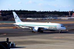 まいけるさんが、成田国際空港で撮影したZIPAIR 787-8 Dreamlinerの航空フォト(飛行機 写真・画像)
