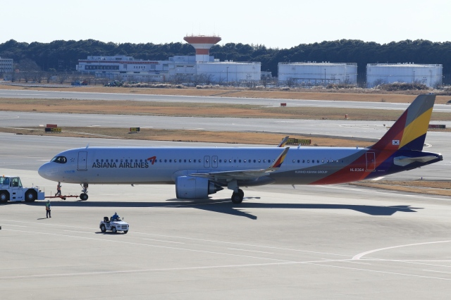 Hiro-hiroさんが、成田国際空港で撮影したアシアナ航空 A321-251NXの航空フォト(飛行機 写真・画像)