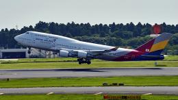 FlyingMonkeyさんが、成田国際空港で撮影したアシアナ航空 747-48EMの航空フォト(飛行機 写真・画像)