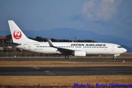れんしさんが、山口宇部空港で撮影した日本航空 737-846の航空フォト(飛行機 写真・画像)