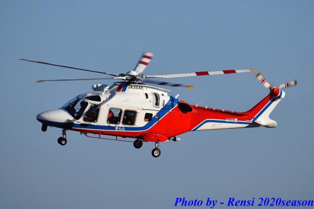 れんしさんが、山口宇部空港で撮影した山口県消防防災航空隊 AW169の航空フォト(飛行機 写真・画像)