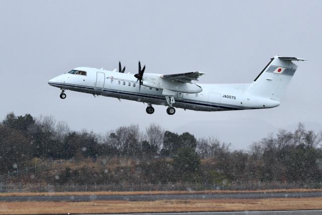 くれないさんが、高松空港で撮影した国土交通省 航空局 DHC-8-315Q Dash 8の航空フォト(飛行機 写真・画像)
