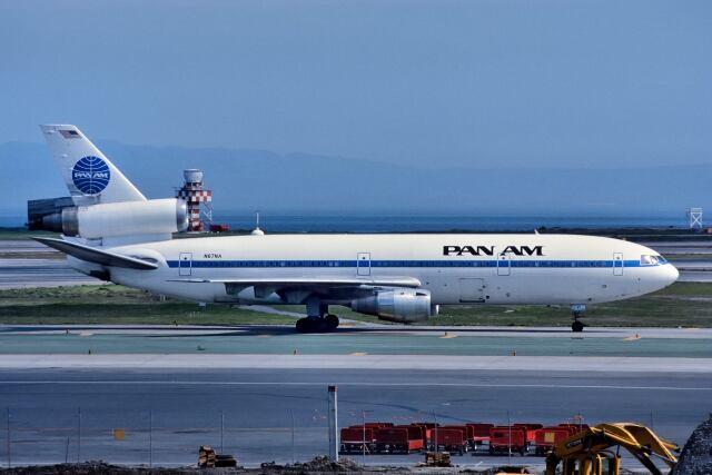 パール大山さんが、サンフランシスコ国際空港で撮影したパンアメリカン航空 DC-10-10の航空フォト(飛行機 写真・画像)