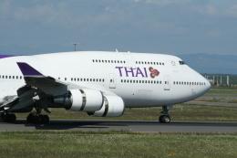 hachiさんが、新千歳空港で撮影したタイ国際航空 747-4D7の航空フォト(飛行機 写真・画像)