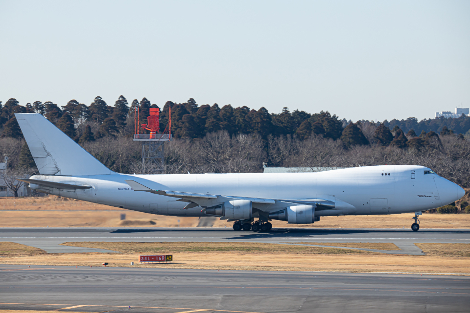 SGR RT 改さんのアトラス航空 Boeing 747-400 (N407KZ) 航空フォト