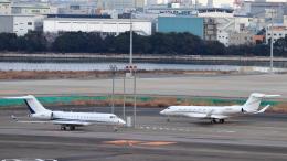誘喜さんが、羽田空港で撮影したアメリカ企業所有 BD-700-1A11 Global 5000の航空フォト(飛行機 写真・画像)