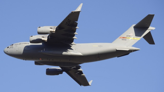 kei_takkyさんが、RJTYで撮影したアメリカ空軍 C-17A Globemaster IIIの航空フォト(飛行機 写真・画像)