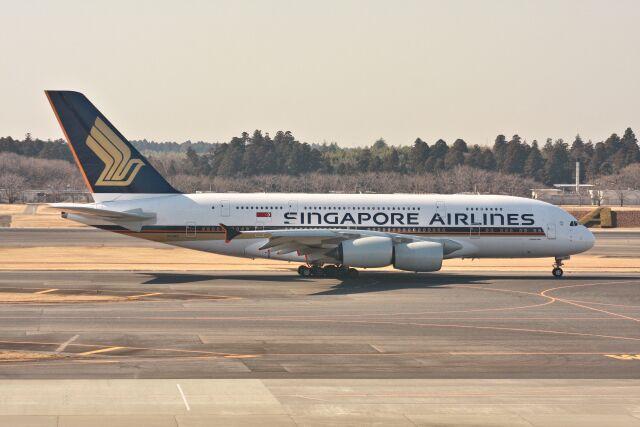 wunalaさんが、成田国際空港で撮影したシンガポール航空 A380-841の航空フォト(飛行機 写真・画像)