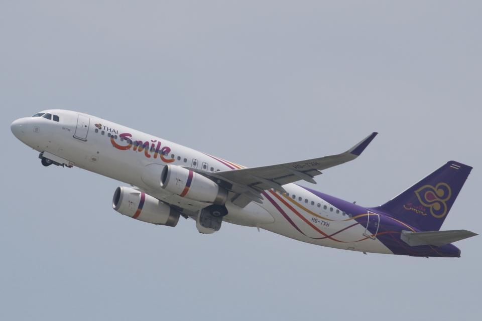 うっきーさんのタイ・スマイル Airbus A320 (HS-TXH) 航空フォト