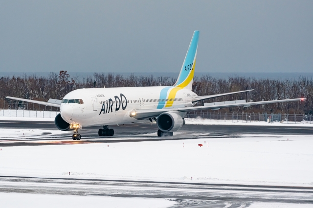 Ariesさんが、函館空港で撮影したAIR DO 767-381/ERの航空フォト(飛行機 写真・画像)