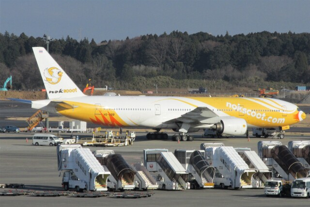 BOEING737MAX-8さんが、成田国際空港で撮影したノックスクート 777-212/ERの航空フォト(飛行機 写真・画像)