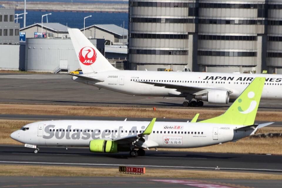 菊池 正人さんのソラシド エア Boeing 737-800 (JA802X) 航空フォト