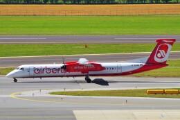 ちっとろむさんが、ウィーン国際空港で撮影したエア・ベルリン DHC-8-402Q Dash 8の航空フォト(飛行機 写真・画像)